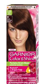 Garnier Color Shine Saç Boyası 535 Sıcak çikolata Kıbrıs Kozmetik